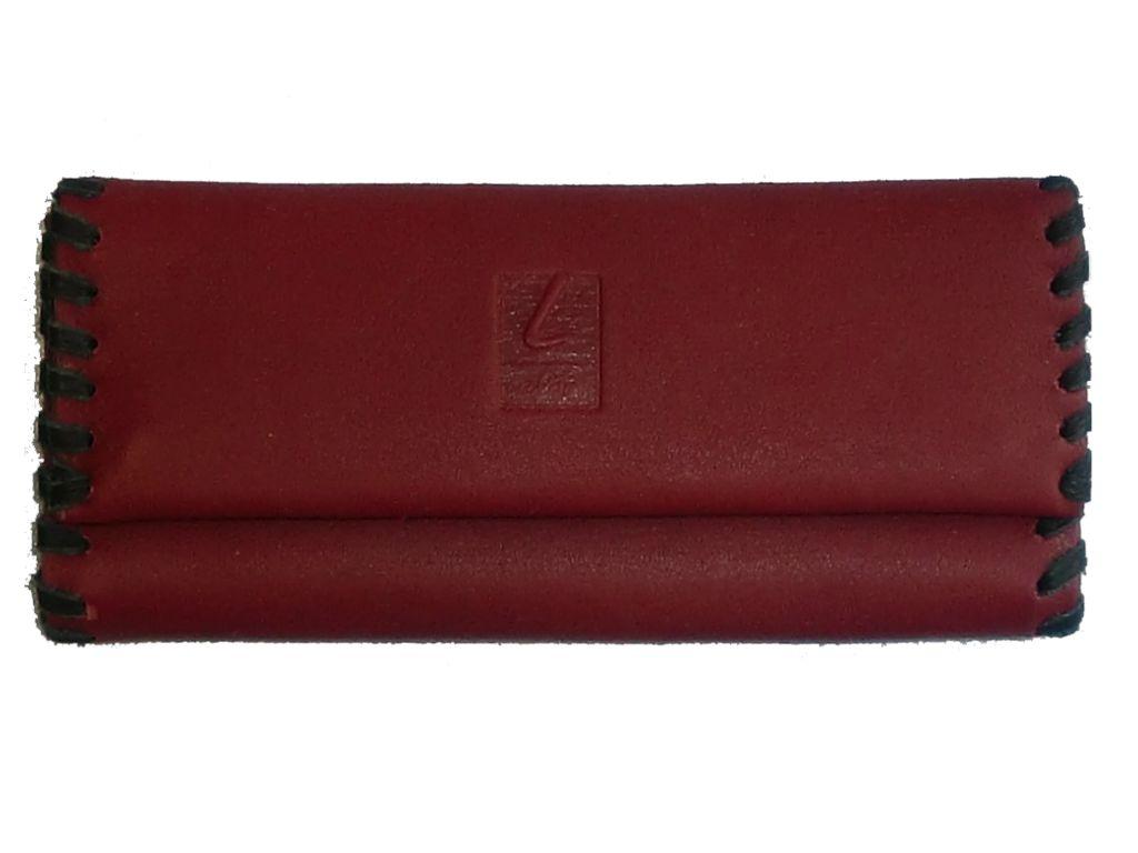 Καπνοσακούλα από δέρμα Lavor [κόκκινο-μπορντώ) 16,5cm X 7cm