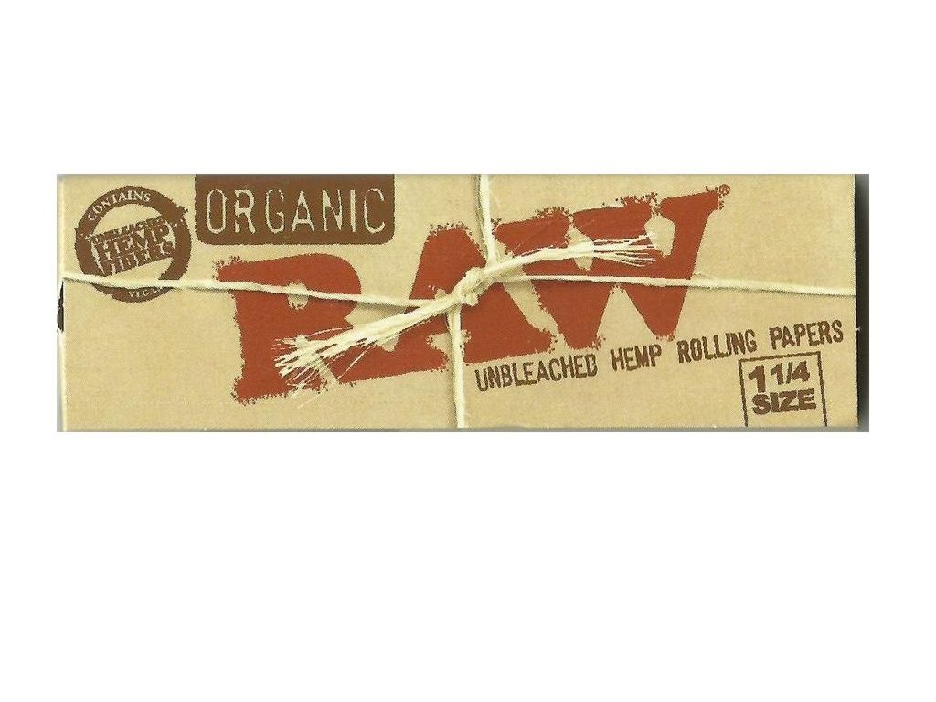 717 - Χαρτάκια 1 και 1 τέταρτο SIZE RAW ORGANIC βιολογική κάνναβη 50 χαρτάκια