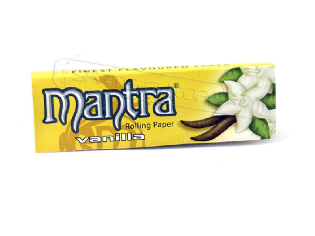 Χαρτάκια 1 και 1/4 MANTRA VANILLA (βανίλια), 50τεμ