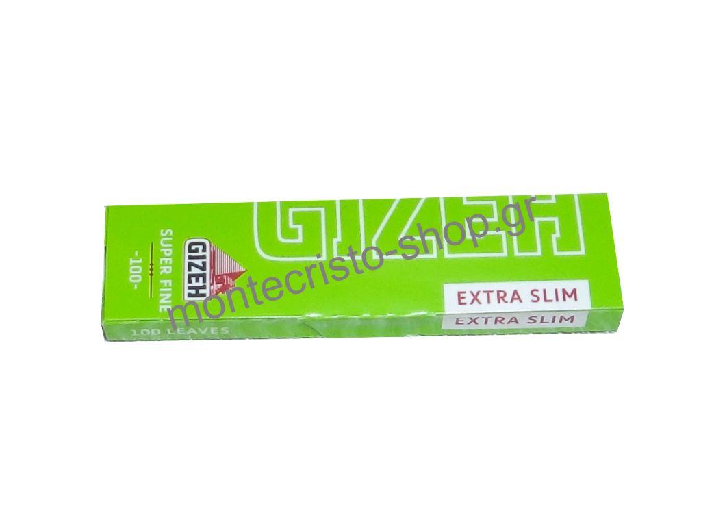 Χαρτάκια στενά GIZEH Λαχανί Extra Slim Super Fine ριζόχαρτο 100 φύλλα GIP059