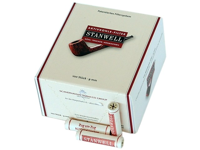 STANWELL 9mm ΦΙΛΤΡΑ ΕΝΕΡΓΟΥ ΑΝΘΡΑΚΑ ΓΙΑ ΠΙΠΑ ΚΑΠΝΟΥ 100 τεμ