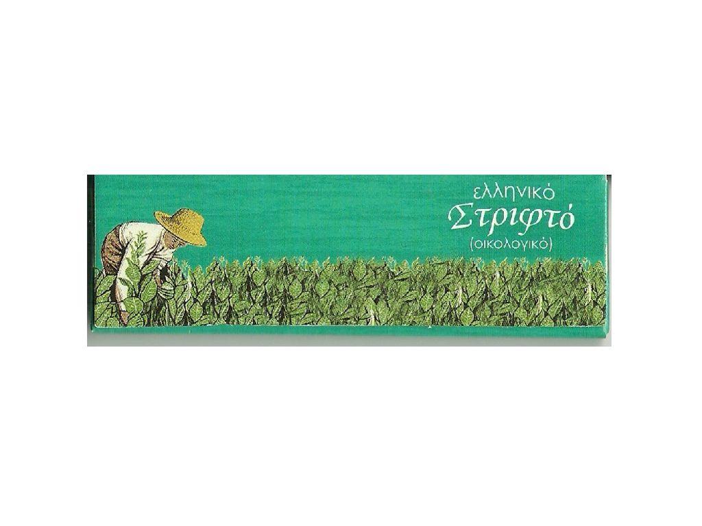 Χαρτάκια Ελληνικό Στριφτό ριζόχαρτο 1916 Πράσινο Μικρό