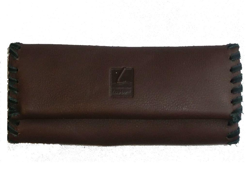 Καπνοσακούλα από δέρμα Lavor (καφέ) 16,5cm X 7cm