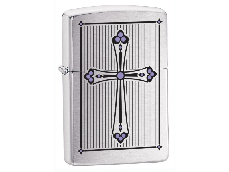 Αναπτήρας ZIPPO 28162 CROSS BRUSHED CHROME