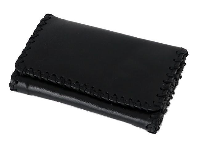 995 - Καπνοσακούλα Rolling από γνήσιο δέρμα μαύρη μεσαία με δερμάτινη ραφή