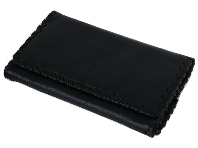 996 - Καπνοσακούλα Rolling από γνήσιο δέρμα μαύρη μεγάλη 44437-100