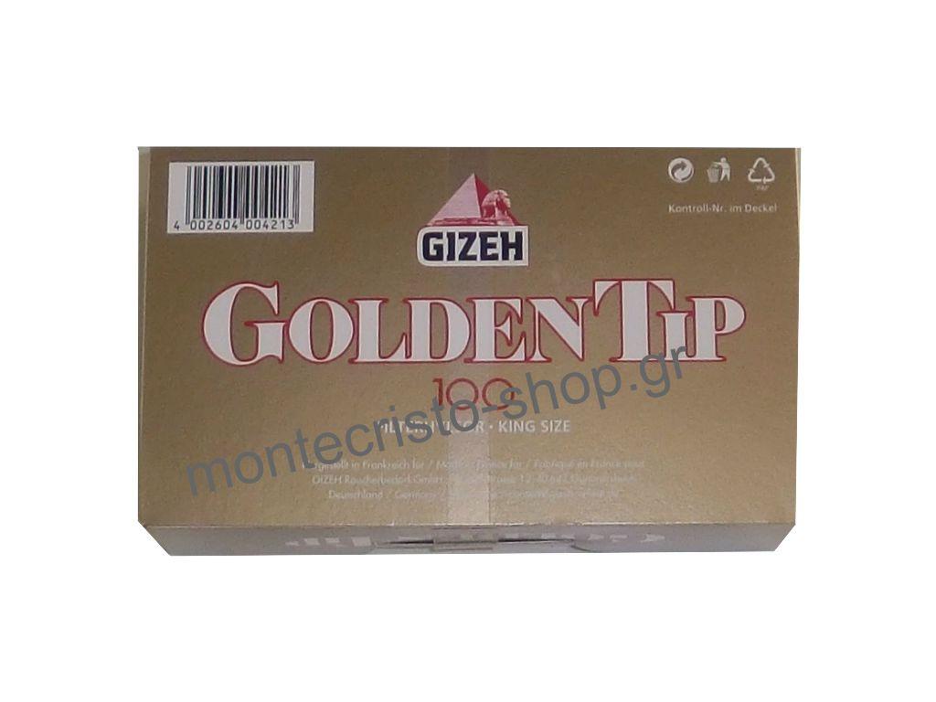 Αδεια τσιγάρα GIZEH Golden Tip τεμάχια 100