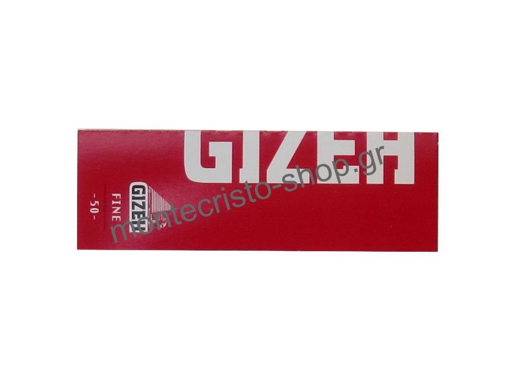 668 - Χαρτάκια στριφτού GIZEH κόκκινο κανονικό πάχος φύλλου FINE 50 φύλλων