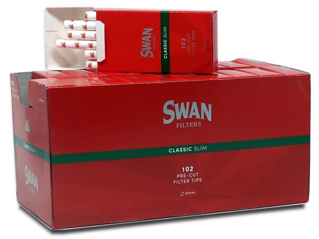 20 Φιλτράκια SWAN Classic slim κόκκινα με τιμή (0,43) το ένα φιλτράκι