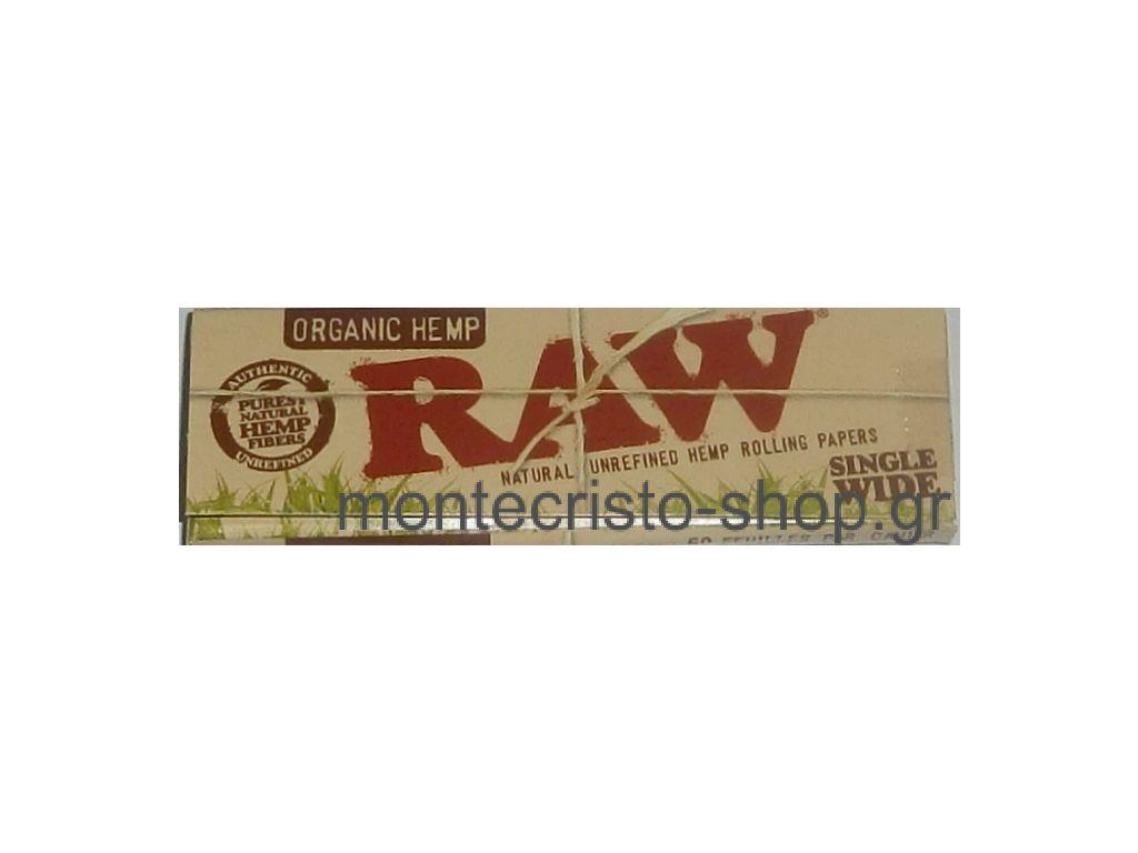 Χαρτάκια RAW Organic Hemp μικρό κανονικό βιολογική κάνναβη