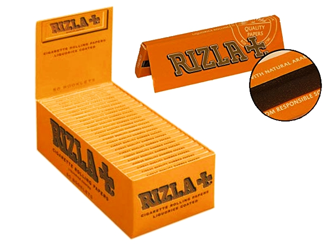 612 - Χαρτάκια στριφτού RIZLA ΓΛΥΚΟΡΙΖΑ κουτί των 50 τεμαχίων (τιμή 0,29 το χαρτάκι)
