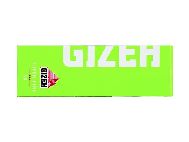 672 - Χαρτάκια GIZEH λαχανί Super Fine ριζόχαρτο 50 φύλλα GIP065