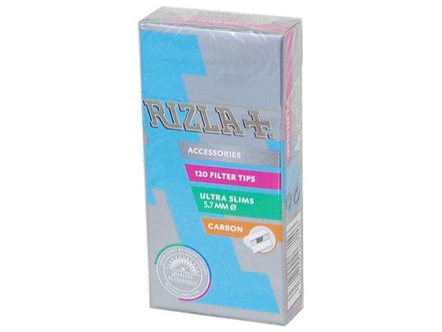 Φιλτράκια Rizla CARBON Ultra Slim Ενεργού Άνθρακα 5,7mm, (120 φιλτράκια)