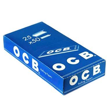 639 - Χαρτάκια OCB μπλε κουτί 25 τεμαχίων 50 φύλλων