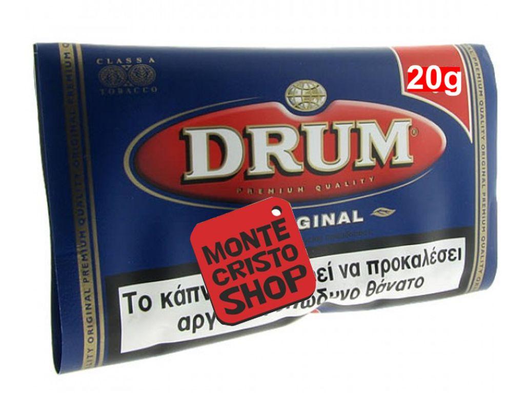 482 - Καπνός στριφτού DRUM original, μπλε, 30gr