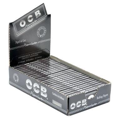 Χαρτάκια στριφτού 1 και 1/4 OCB premium κουτί 25 τεμαχίων 50 φύλλων τιμή 0,36 το χαρτάκι - 1 και 1 τέταρτο