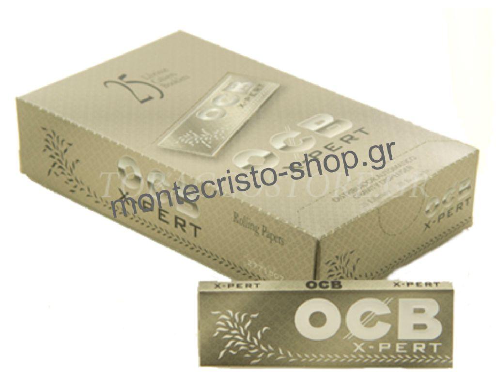 Χαρτάκια στριφτού 1 & 1/4 OCB X-PERT 50 φύλλα κουτί 25 τεμαχίων τιμή 0,36 το χαρτάκι
