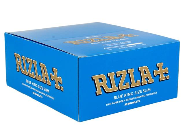 �������� KING SIZE SLIM RIZLA BLUE ���� ����� ��� 50 �������� ���� 0,34 �� �������