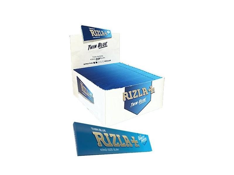 Χαρτάκια KING SIZE SLIM RIZLA BLUE Μπλέ κουτί των 50 τεμαχίων τιμή 0,34 το χαρτάκι