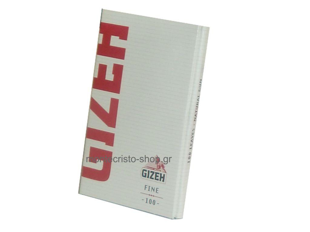 Χαρτάκια GIZEH FINE με μαγνήτη κανονικό πάχος 100 φύλλων κόκκινα GIP087