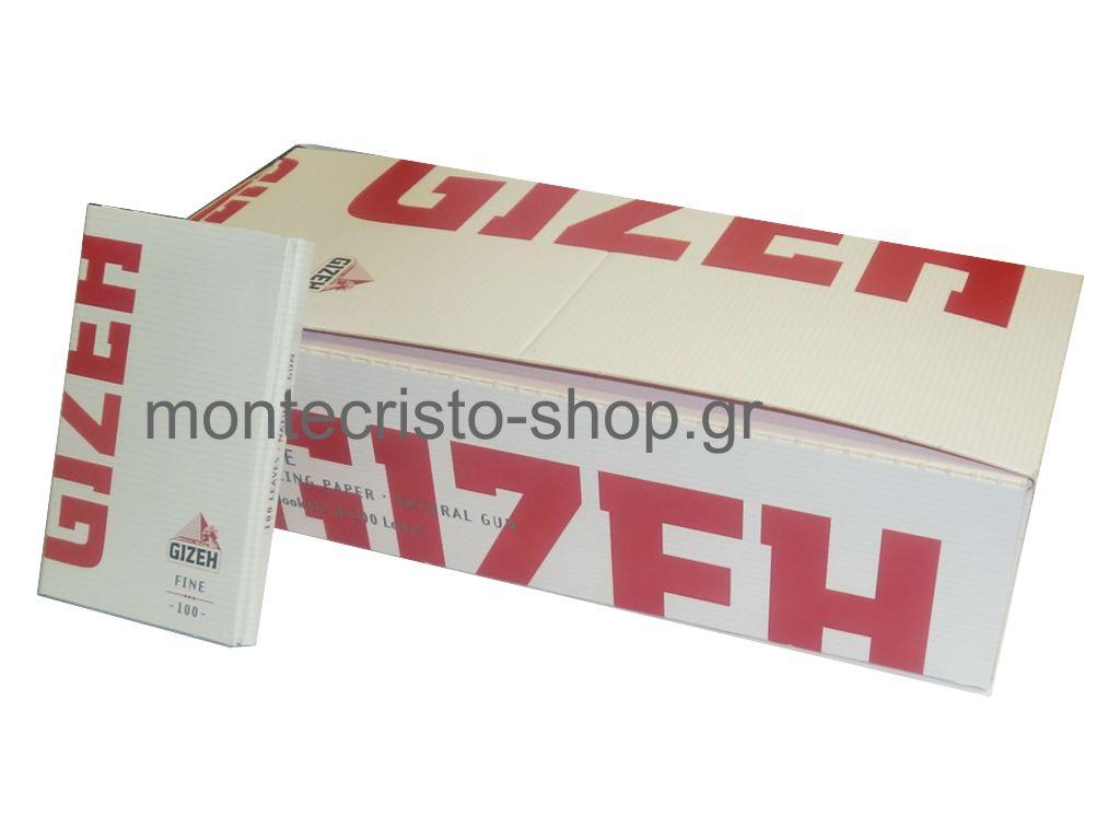 677 - Κουτί με 20 χαρτάκια GIZEH FINE με μαγνήτη 100 φύλλων κόκκινα GIP087