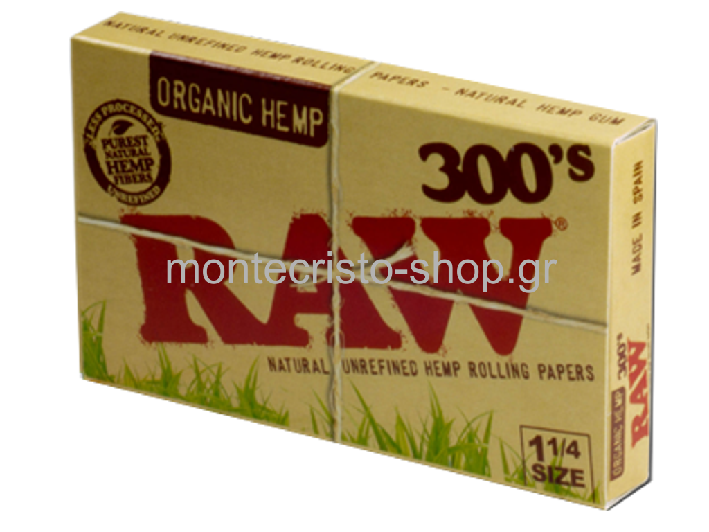 ������� RAW 300 ORGANIC HEMP 1 ��� 1 ������� 300 �����