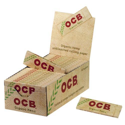 Χαρτάκια OCB organic hemp κουτί 50 τεμαχίων Βιολογική κάνναβη