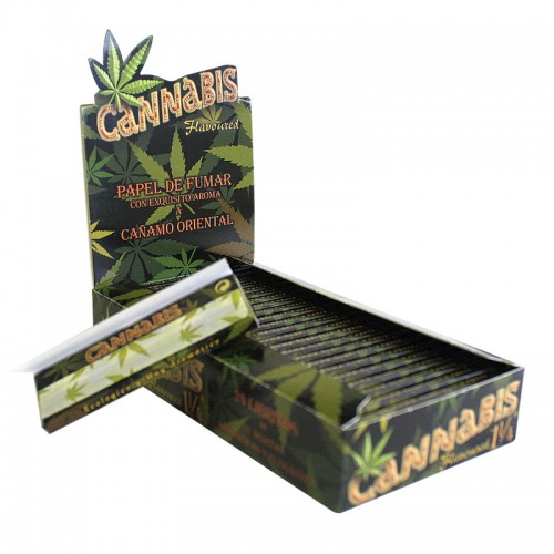 Χαρτάκι Cannabis flavored 1 1/4, κουτί 24 τεμ, 32 φύλλα, €1.05 το χαρτ