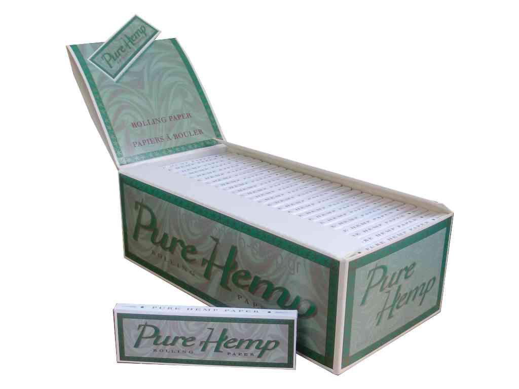 Χαρτάκια Pure Hemp, κουτί 50 τεμάχια (0,21 το χαρτάκι)