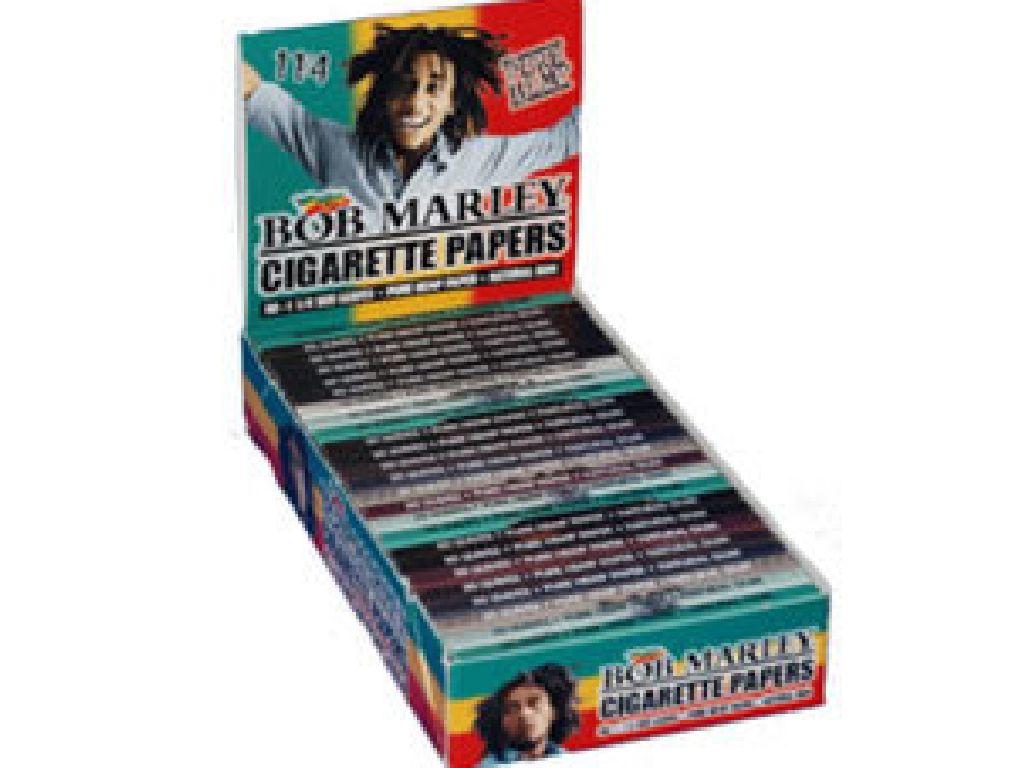 Χαρτάκια 1και 1/4 Bob Marley, κουτί 25 τεμ, 0,68 το χαρτ. (Κάναββη)