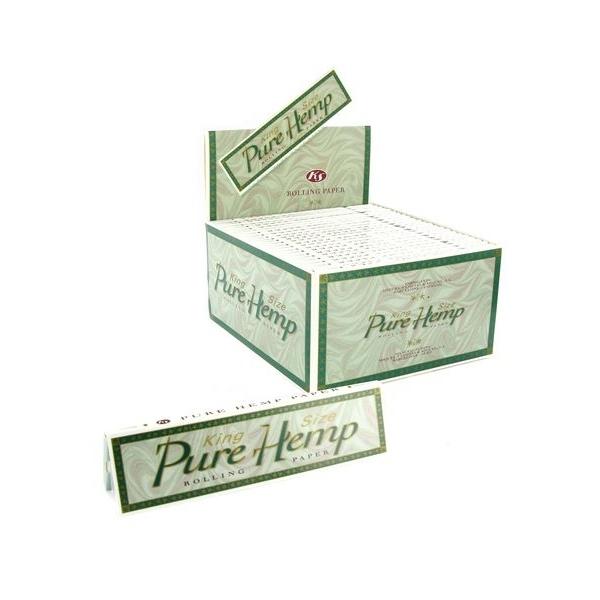 Χαρτάκια Pure Hemp King Size, κουτί 50 τεμ, 50 φύλλα