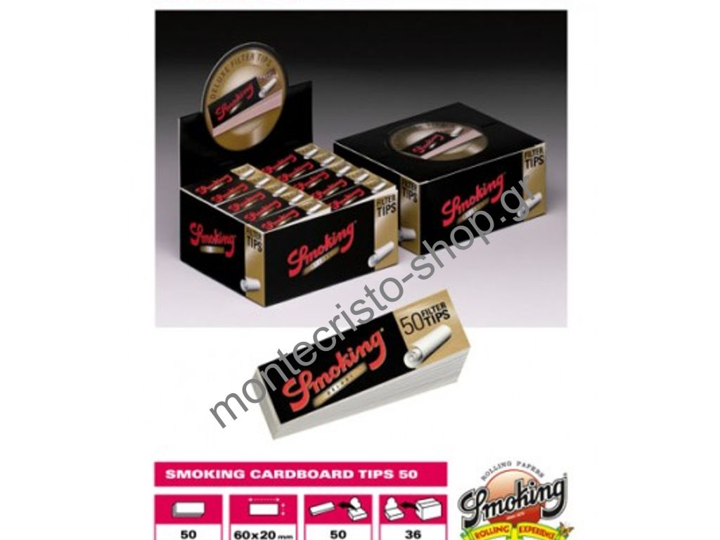 1160 - ������� Smoking Deluxe 50 filter tips ����� ��� 50 �������� (���� 0,46 � �������)