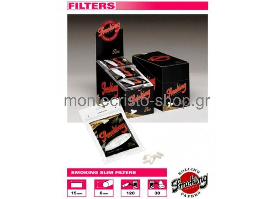 1158 - Φίλτρα Smoking DeLuxe SLIM 6mm κουτί 30 τεμ €1.08 το σακουλάκι