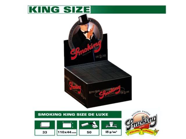 Χαρτάκια Smoking DELUXE king size 33φύλλα κουτί 50τεμ (0.49το χαρτάκι)
