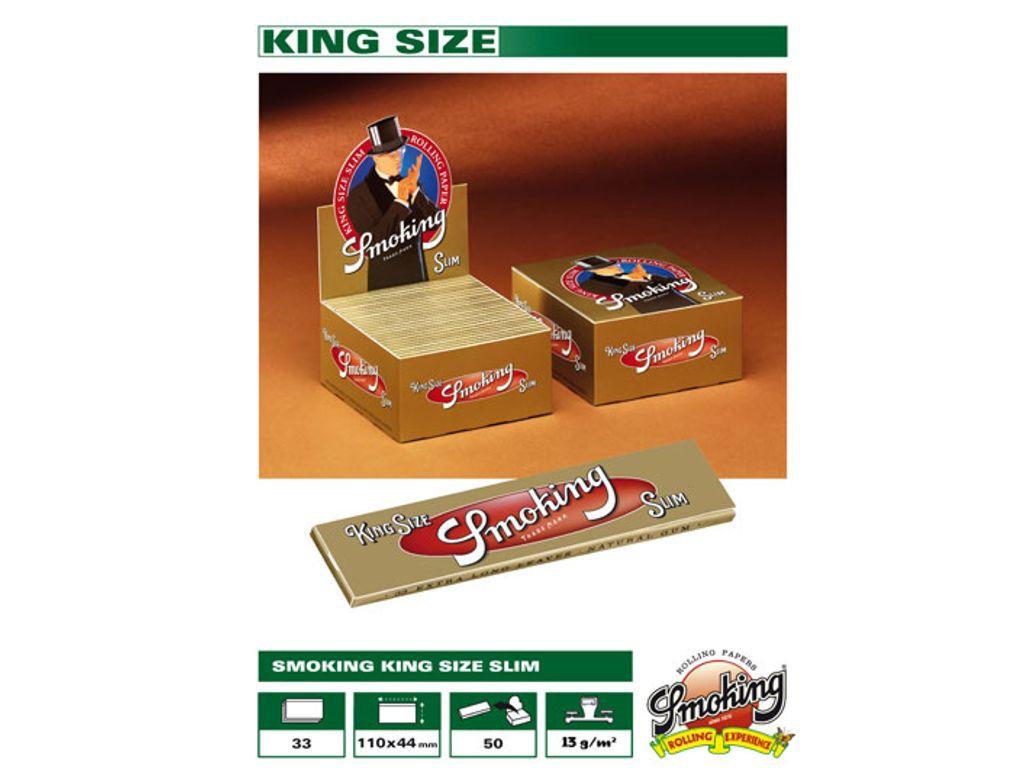 Χαρτάκια Smoking Gold SLIM king size (0.49 το χαρτάκι) κουτί 50τεμ 33φύλλα