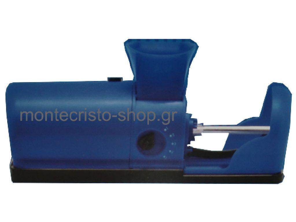 """1032 - Μηχανή για άδεια τσιγάρα """"ELECTRIC ROLLING MACHINE"""" μπλέ (47306-410)"""