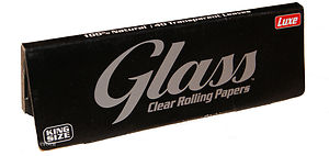 Χαρτάκια Glass Clear King Size Διάφανο