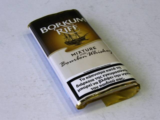 931 - Καπνός πίπας BORKUM RIFF BRONZE (BOURBON WHISKEY) 40g