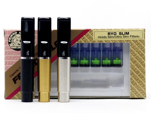 987 - Πίπα για στριφτό σε 3 χρώματα Friend Holder RYO slim 6,10mm και 6,5mm