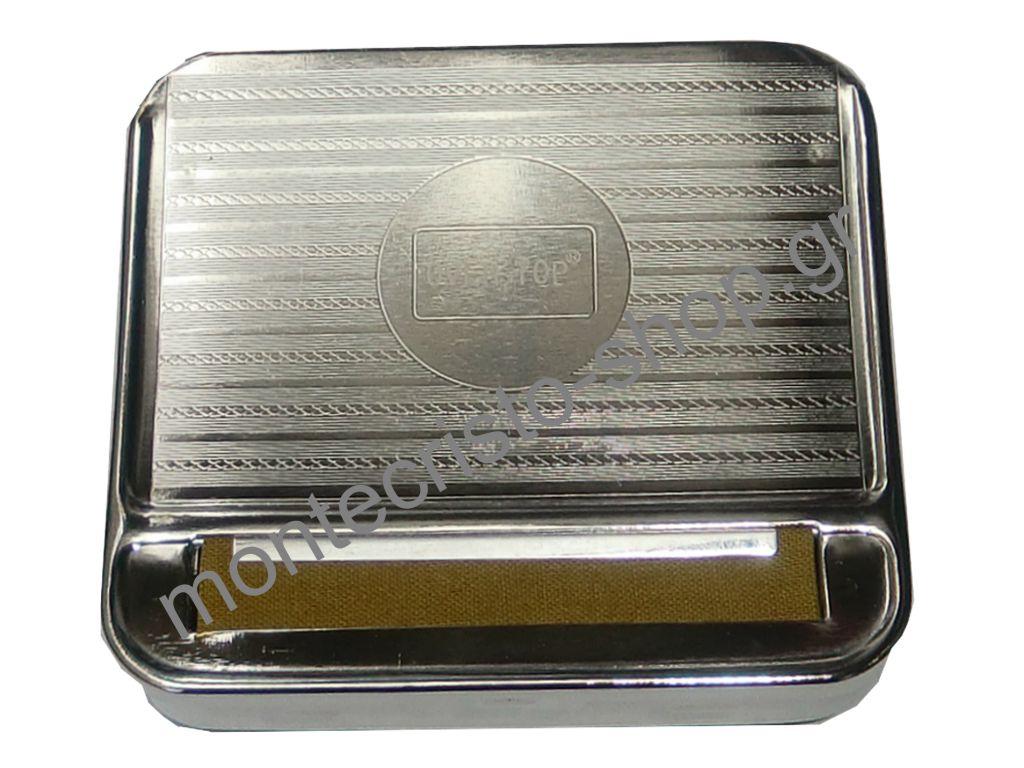 """1063 - Ταμπακιέρα στριφτού OverTop """"ασημί"""" , για 5,3mm και 5,7mm"""
