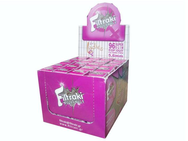 filtraki super slim 5,6mm FOR LADIES κουτί 20 τεμ €0,35 το ένα