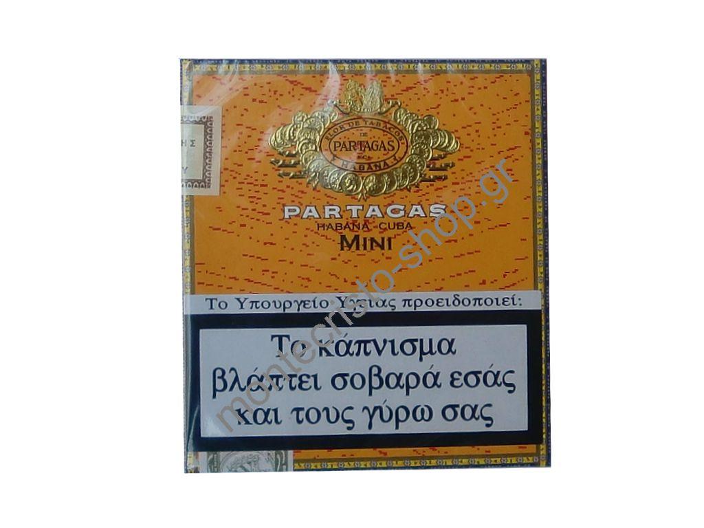 Partagas mini 20's cigarillos