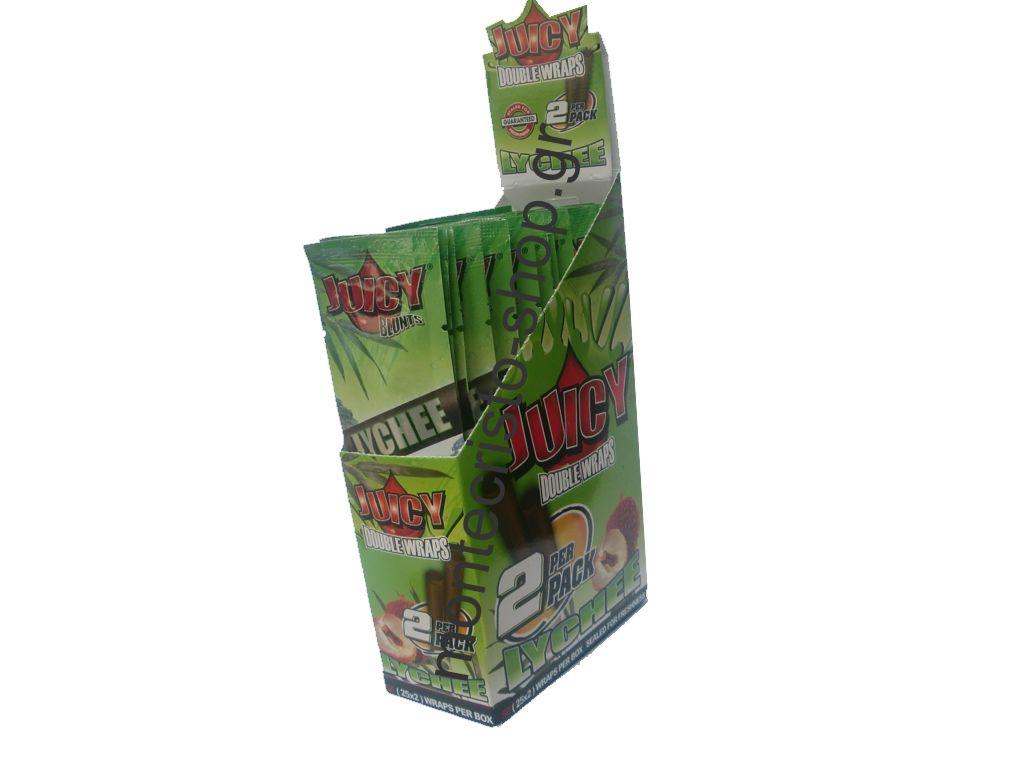 1261 - Πουρόφυλλα Juicy Jays BLUNTS BLUNTS TUBE LYCHEE Κουτί 25τεμ €0.49 το ένα