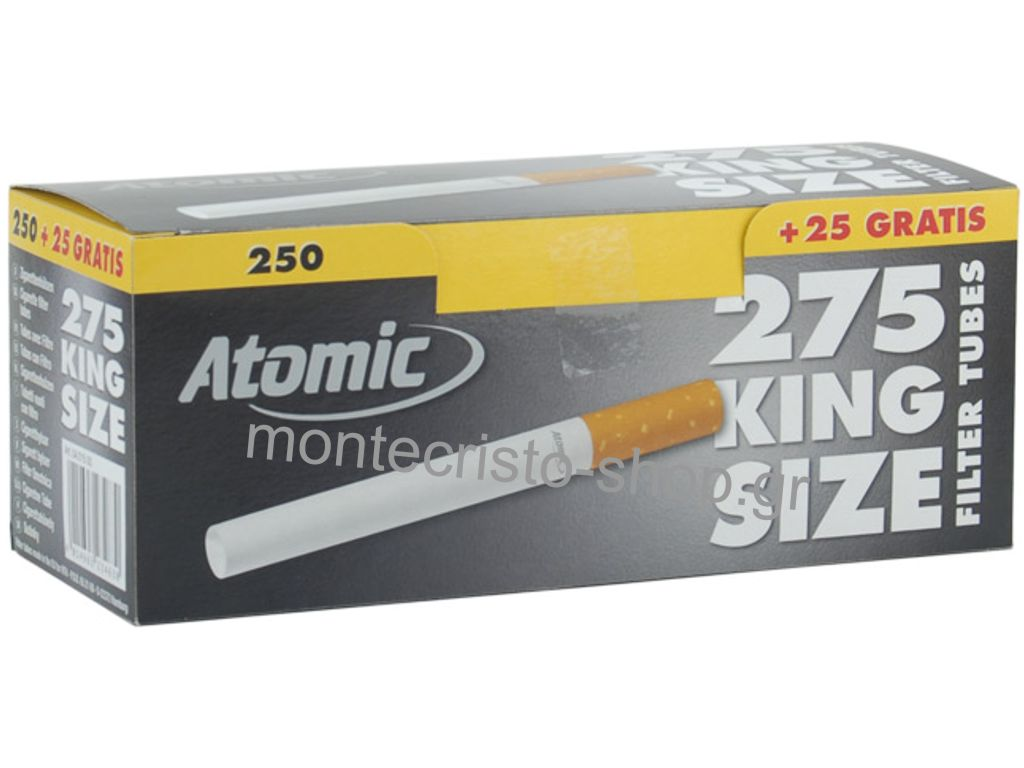 Άδεια τσιγάρα για γέμισμα ATOMIC TUBES κουτί με 275 τσιγαροσωλήνες 84mm
