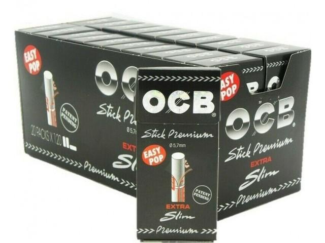 Κουτί με 20 φιλτράκια OCB Ultra Slim Premioum 120