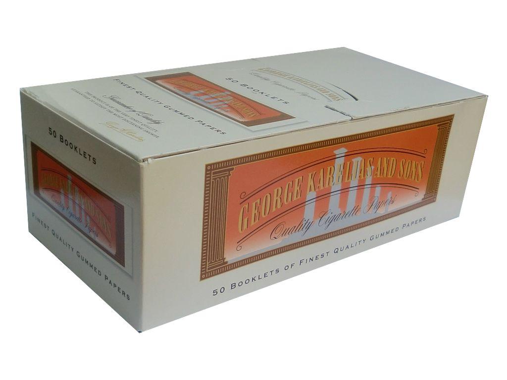 Χαρτάκια ΚΑΡΕΛΙΑΣ, κουτί 50 τεμ κανονικό πάχος