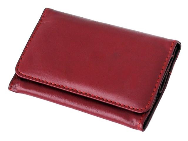 1330 - Καπνοσακούλα από γνήσιο δέρμα Rolling κόκκινη μεσαία