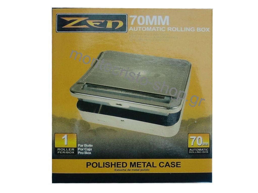 Ταμπακιέρα ZEN 70mm που στρίφει καπνό, για κανονικά χαρτάκια