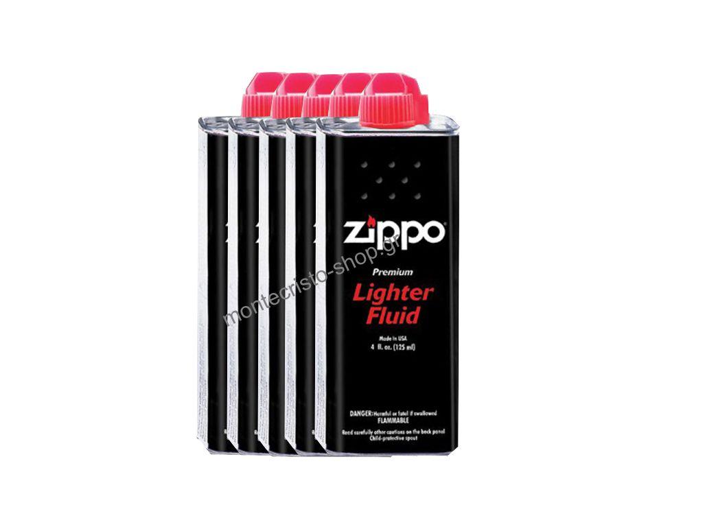Σετ με 5 Zippo υγρό, Ζιπέλαιο 125ml