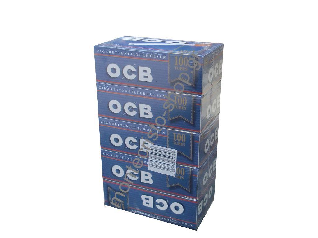 Σετ με 5 άδεια τσιγάρα OCB cigarette tubes 100 τεμ €0,58 το 1 κουτί